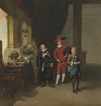 David Garrick - Garrick (right) as Abel Drugger in Jonson's The Alchemist painted by Johann Zoffany.