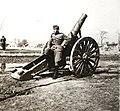Zsákmányolt 15-ös tarack a magyar csapatok bevonulása idején. Fortepan 76999.jpg