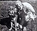 """Beneva"" (later Thunder the Dog) with actor Charles de Rochefort, 1923.jpeg"