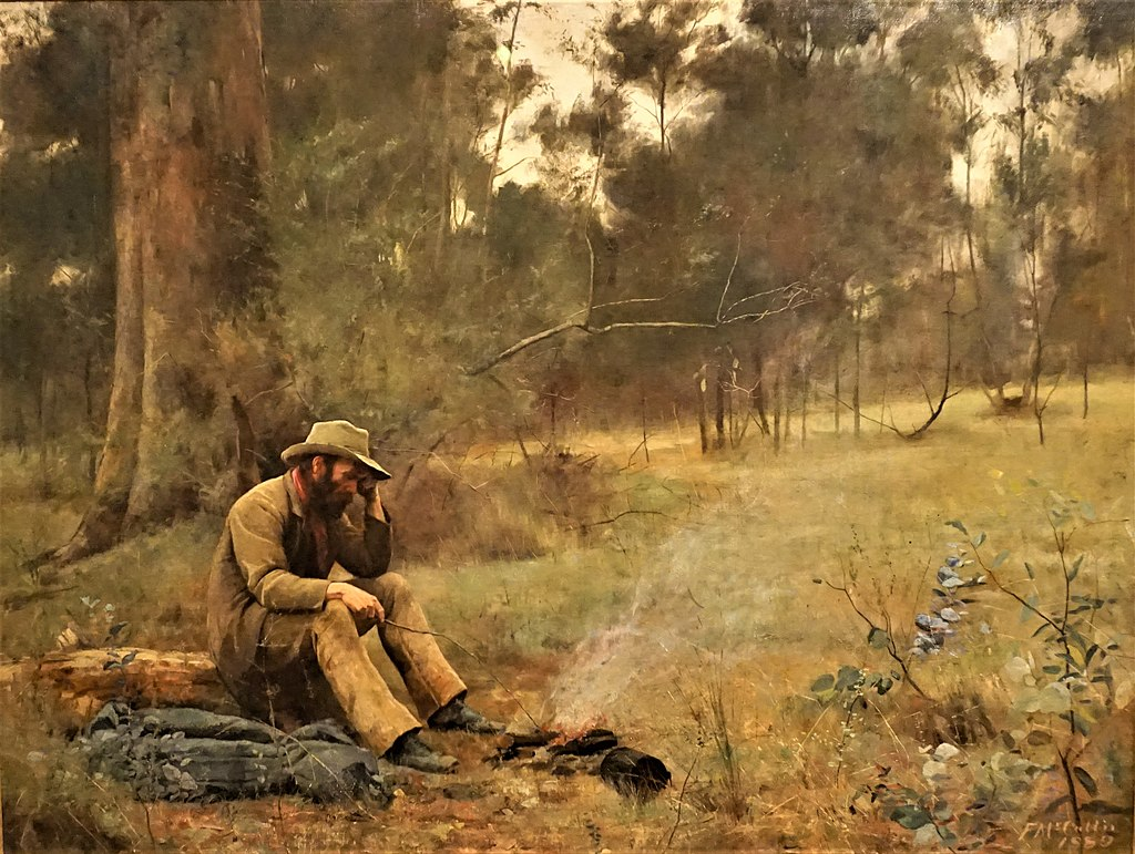 """Down on his Luck"" by Frederick McCubbin - Art Gallery of Western Australia"