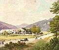 """Neue Krainerhütte"" im Helenental - Aquarell um 1830.jpg"