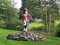 """The Black Watch"" Statue at Forrest Lodge (Fred Olsen's house) - geograph.org.uk - 258877.jpg"