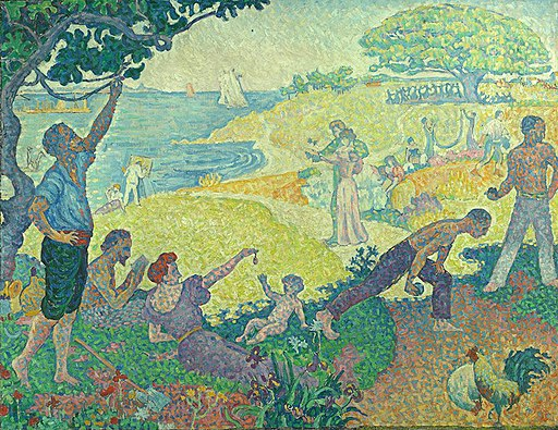 'In the Time of Harmony; the Golden Age is Not Passed...' by Paul Signac