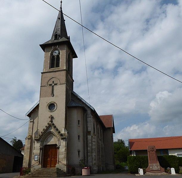 Église Saint-Étienne de Bey-sur-Seille en Meurthe-et-Moselle (France).
