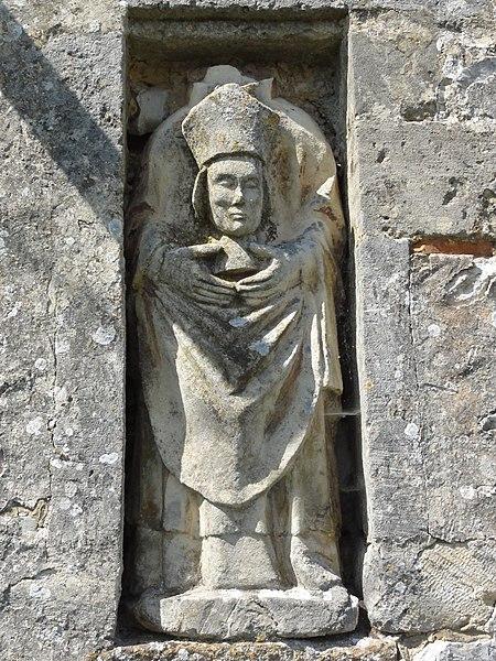 Érize-Saint-Dizier (Meuse) église, statue de la façade