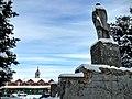 Кашин, памятник Ленину, вид на торговые ряды и Воскресенский собор - panoramio.jpg