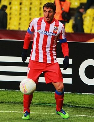 Cristian Rodríguez - Rodríguez playing for Atlético Madrid in 2013.