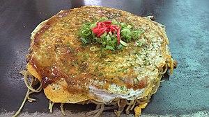 Okonomiyaki - Hiroshima style Okonomiyaki