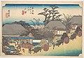 東海道五十三次之内 大津 走井茶屋-Otsu, Soii Chaya MET DP122234.jpg