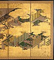 "源氏物語図屏風 (胡蝶)-""Butterflies"" (""Kochō""), Chapter 24 from The Tale of Genji (Genji monogatari) MET DP362582.jpg"