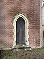 -2020-12-28 Gothic arched doorway, south facing elevation, Cromer town cemetery chapel, Cromer, Norfolk.JPG