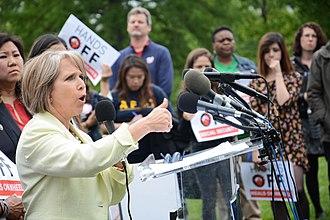 Michelle Lujan Grisham - Michelle Lujan Grisham speaking at a budget rally, May 2017