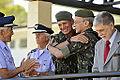 - General Salvador recebe o abraço do comandante do Exército, general Enzo Peri, sob aplausos do brigadeiro Juniti Saito. O grupo é ladeado pelo ministro da Defesa, Celso Amorim (7945386292).jpg