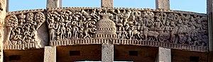Ramagrama stupa - Image: 013 King Asoka visits Ramagrama (33428090870)