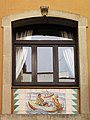 024 Can Solé (Barcelona), detall de la façana del c. Sant Elm 14-16.jpg
