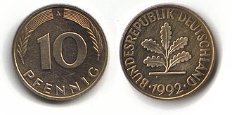 Deutsche Mark - 10 pfennig