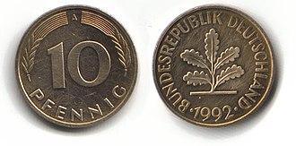 Deutsche Mark - 10 pfennig