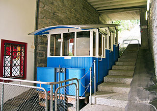 funicular railway near the Swiss city of Lucerne linking Kriens and Sonnenberg