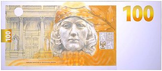 Czech koruna - Image: 100 CZK reverse 2019