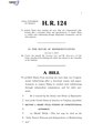 116th United States Congress H. R. 0000124 (1st session) - John Tanner Fairness and Independence in Redistricting Act.pdf