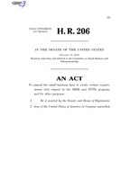 116th United States Congress H. R. 0000206 (1st session) - Encouraging Small Business Innovation Act C - Referred in Senate.pdf