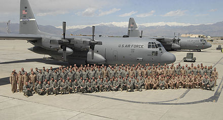 Kentucky ANG personnel with C-130Hs inAfghanistan 2009 123rd Airlift Wing personnel with C-130Hs Afghanistan 2009.jpg