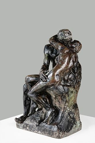 The Kiss (Rodin sculpture) - Bronze cast in Museo Soumaya, Mexico City