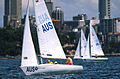 141100 - Sailing Australia 3 person keelboat action 3 - 3b - 2000 Sydney race photo.jpg