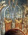 1500 - Arc scurt moldovenesc acoperit cu scoarta de mesteacan purtat in tolba de sold - Manastirea Humor.jpg