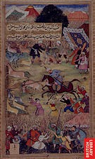 1507-Babur hunting on the plains of Kattavaz.jpg