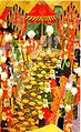 1578-Banquet given by Lala Mustafa Pasha to the Jannissaries in Izmit-Nusretname.jpg