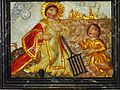 16 Sainte-Marie du Ménez-Hom Autel nord retable Le martyre de Saint-Laurent brûlé sur un gril.JPG