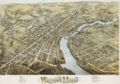 1877 map Waltham Massachusetts by Bailey BPL 10176.png