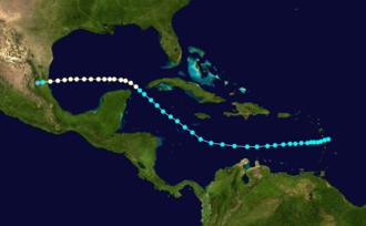 1878 Atlantic hurricane season - Image: 1878 Atlantic hurricane 2 track