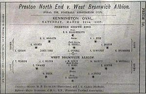 1888 FA Cup Final - A copy of the game's programme was auctioned in 2015.
