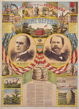 Presidential Election of 1896 Republican Poster - William McKinley (Pres) & Garret A. Hobart (VP)