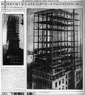 Andrew Young School of Policy Studies - Image: 1904 02 28 fourth national bank under construction