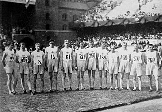 Athletics at the 1912 Summer Olympics – Men's individual cross country - The Swedish competitors of the cross country race.