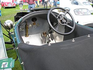Vauxhall Prince Henry - Image: 1912 Vauxhall Prince Henry interior