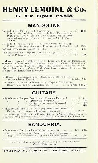 Henry Lemoine - Image: 1914 Advertisement Henry Lemoine & Co