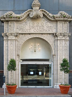 Americans in Guatemala - Entrance to the old United Fruit Company building, St. Charles Avenue, New Orleans. Now houses a bank.
