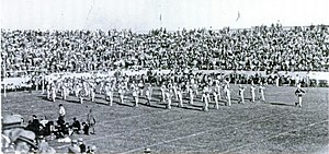 1921 Vanderbilt Commodores football team - The Longhorns' marching band during halftime