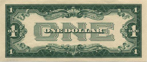 1928 Dollar Bill Reverse