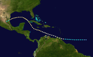 1933 Atlantic hurricane season - Image: 1933 Atlantic hurricane 2 track