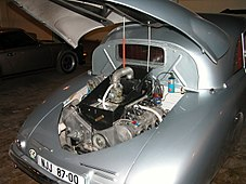 1947 Tatra T-87 Saloon - Engine Compartment (Lane Motor Museum).jpg