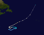 1954 Atlantic hurricane 13 track.png
