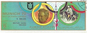 Richard Meade - Meade on a stamp of Ajman