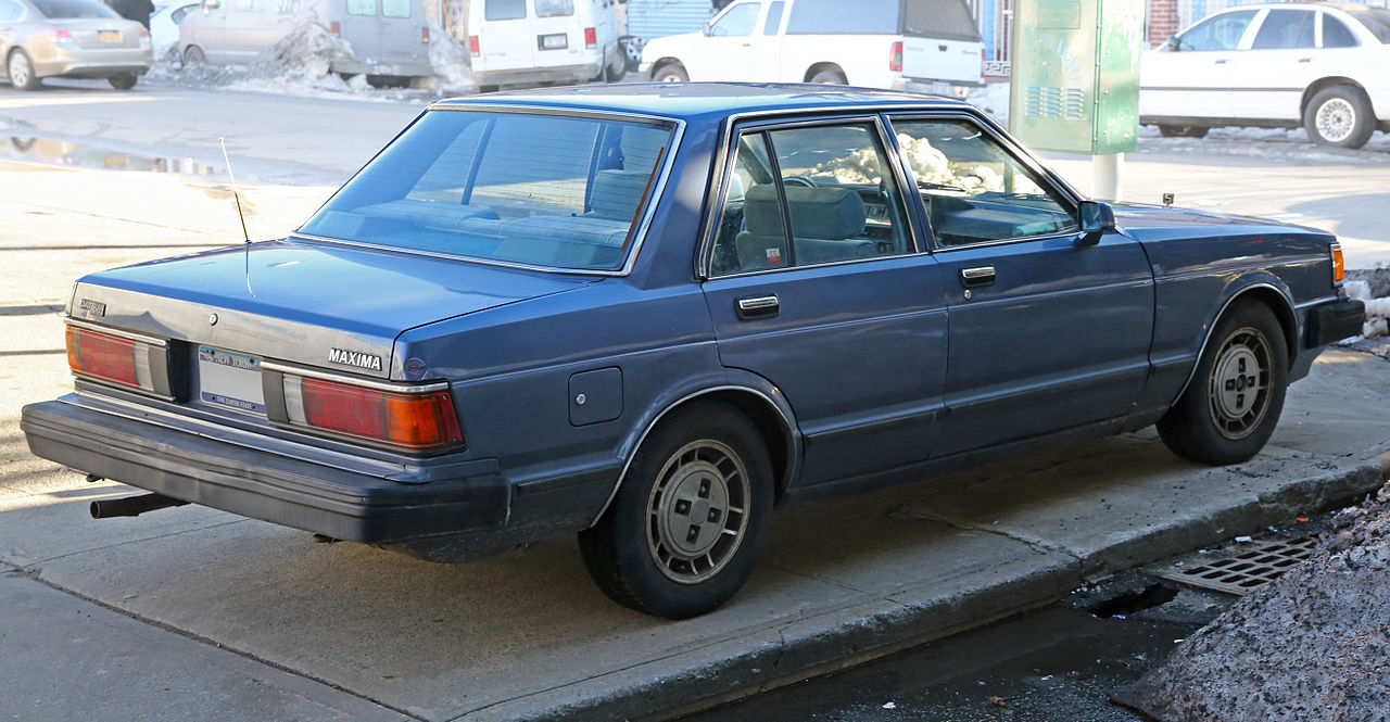 Nissan Of Queens >> File:1983 Datsun Maxima, right rear.jpg - Wikimedia Commons
