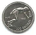1 песо. Куба. 1983. XXIII летние Олимпийские Игры, Лос-Анджелес 1984 - Бег.jpg