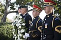 1st Special Forces Command (Airborne) lays a wreath honoring President John F. Kennedy at Arlington National Cemetery (22338449305).jpg